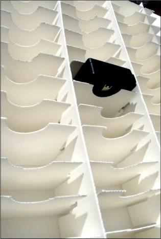 Elaboración de empaque interno, divisiones, separadores, bolsas, insertos o cajas de caple o microcorrugado para piezas individuales